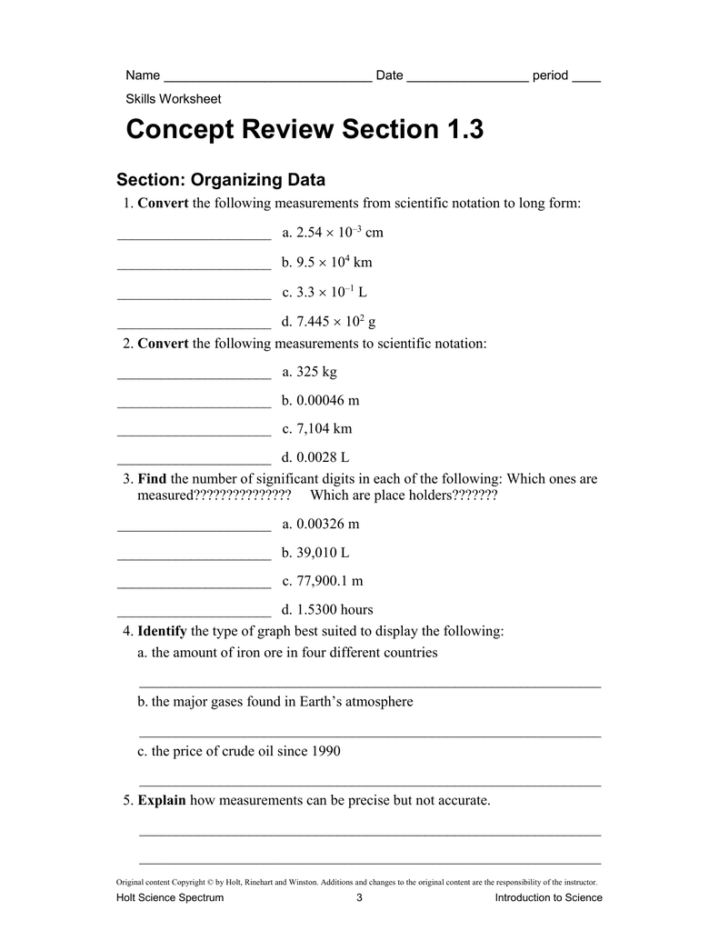 Skills Worksheet Concept Review Section Balancing Chemical Equations Answer Key  Tessshebaylo