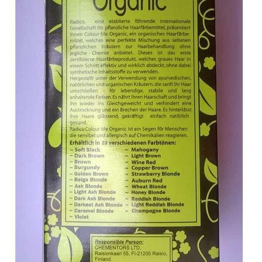 Radico Colour Me Organic Premium Hair Colour Organic, Farbe: Champagnerblond