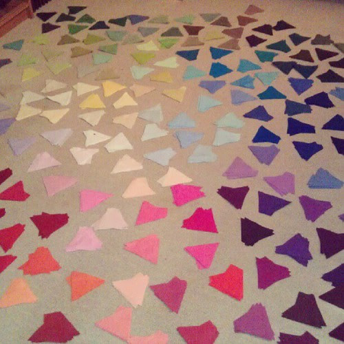 Eternity quilt: I really don't want to think about how many pieces there are...