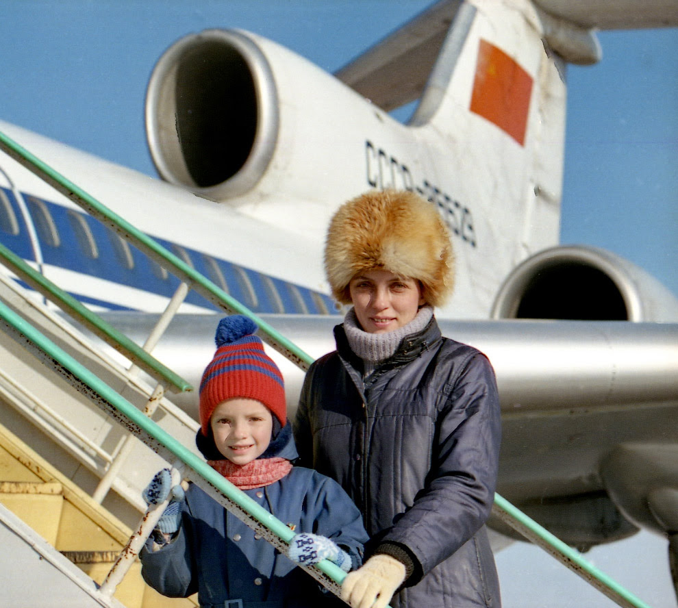 Лариса Савицька з сином Георгієм