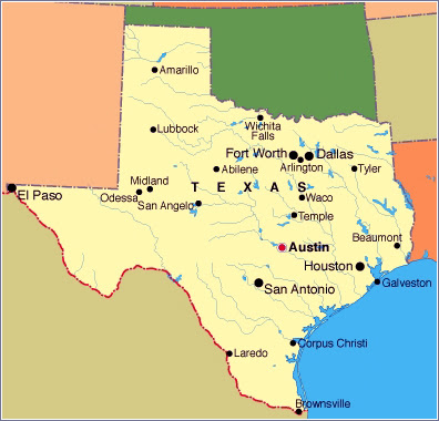 Houston Texas Map And Surrounding Areas