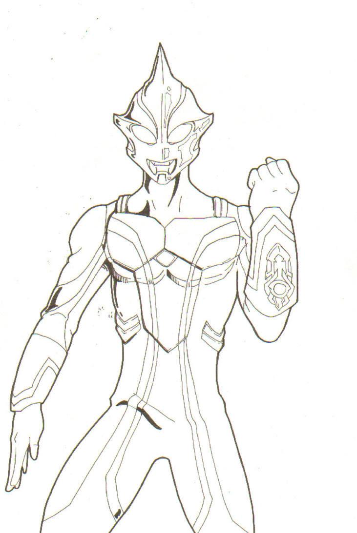Aneka Mewarnai Gambar Ultraman Zero