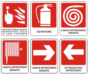 Risultati immagini per cartelli antincendio