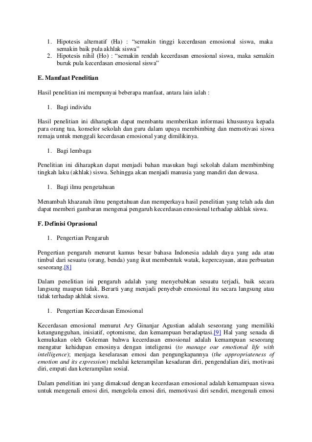 Contoh Hipotesis Skripsi Manajemen Keuangan 3 Glorios As Palavras