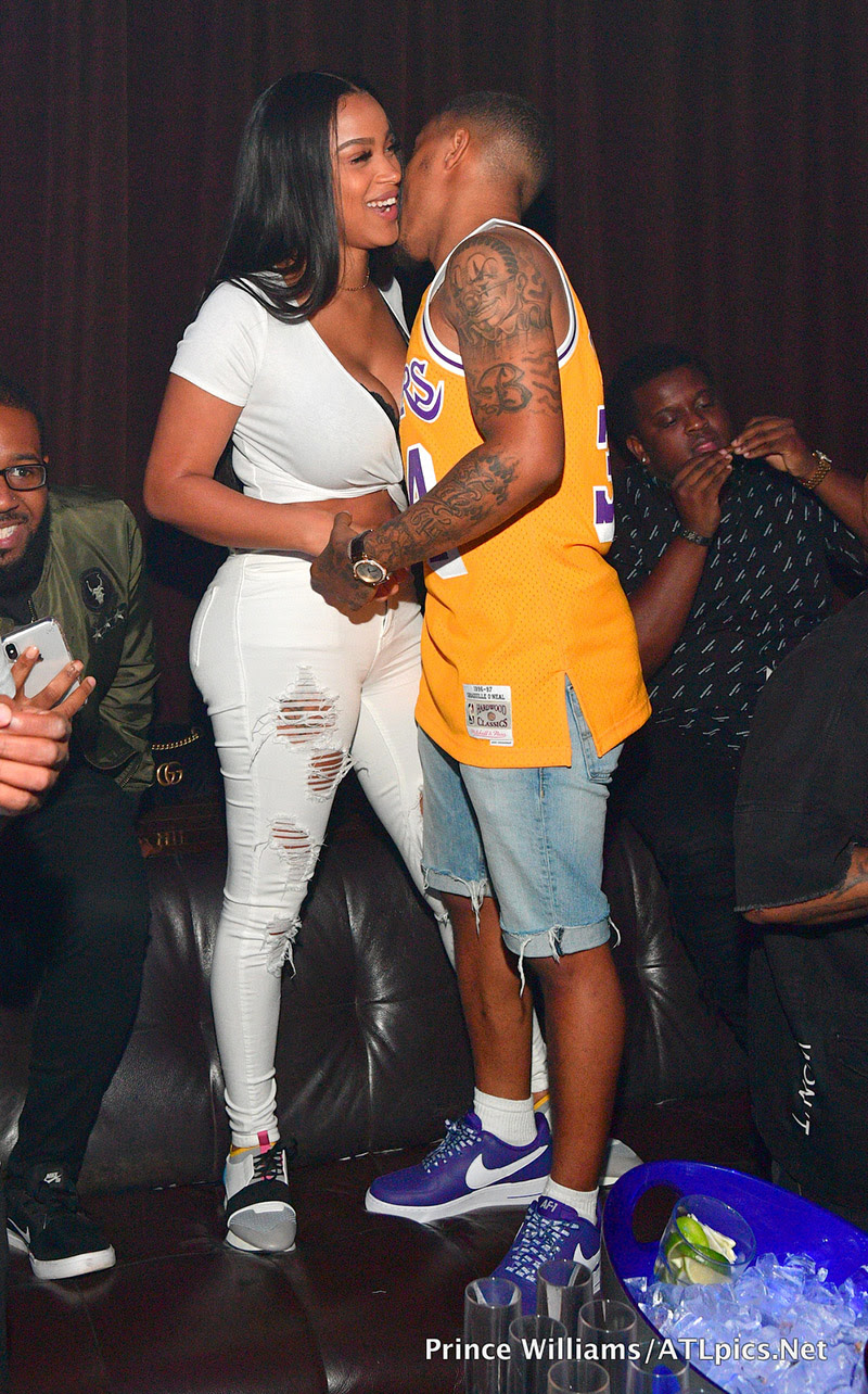 Bow Wow and Kiyomi Leslie partying at Tongue & Groove in Atlanta in 2018.(Photo by Prince