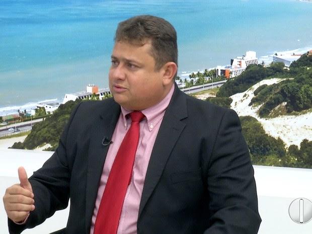 Wallber Virgolino concedeu entrevista ao RN TV 1ª Edição nesta quarta-feira (18) (Foto: Reprodução/ Inter TV Cabugi)