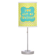 You are My Sunshine Yellow Polkadots Lamp
