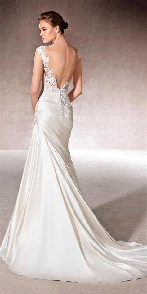 18 Satin Mermaid Wedding Dresses For Extraordinary Brides