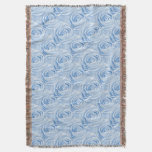 Floral Nature Photo Light Blue Rose Abstract Throw Blanket
