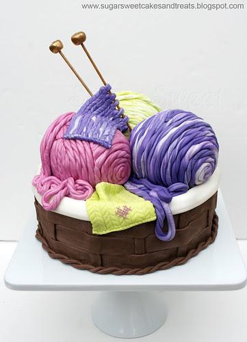 Knitting Basket - Balls of Yarn - Cake