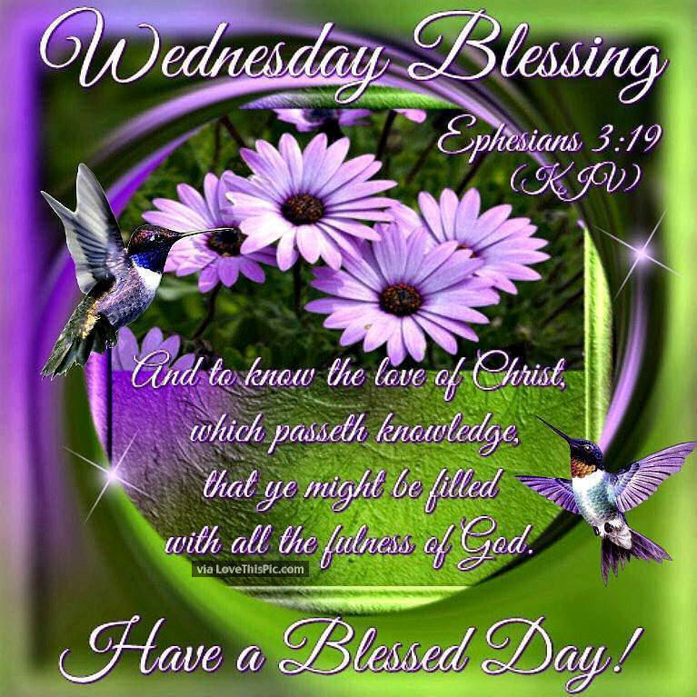 Wednesday Blessings Have A Blessed Day Religious Quote Pictures