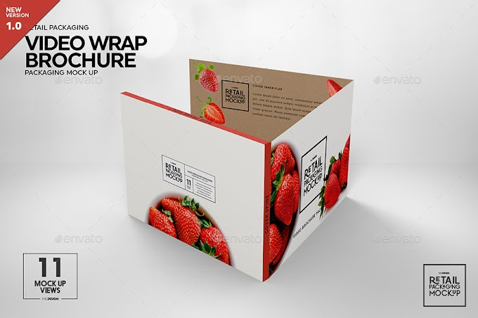 Retail Video Wrap Brochure Packaging Mockup 28291873