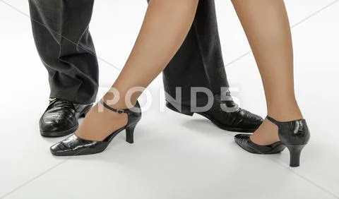 One of tango dance positions