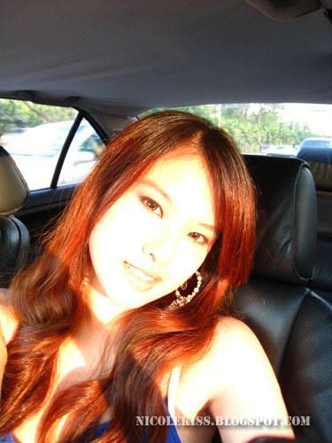 bright sun lit face