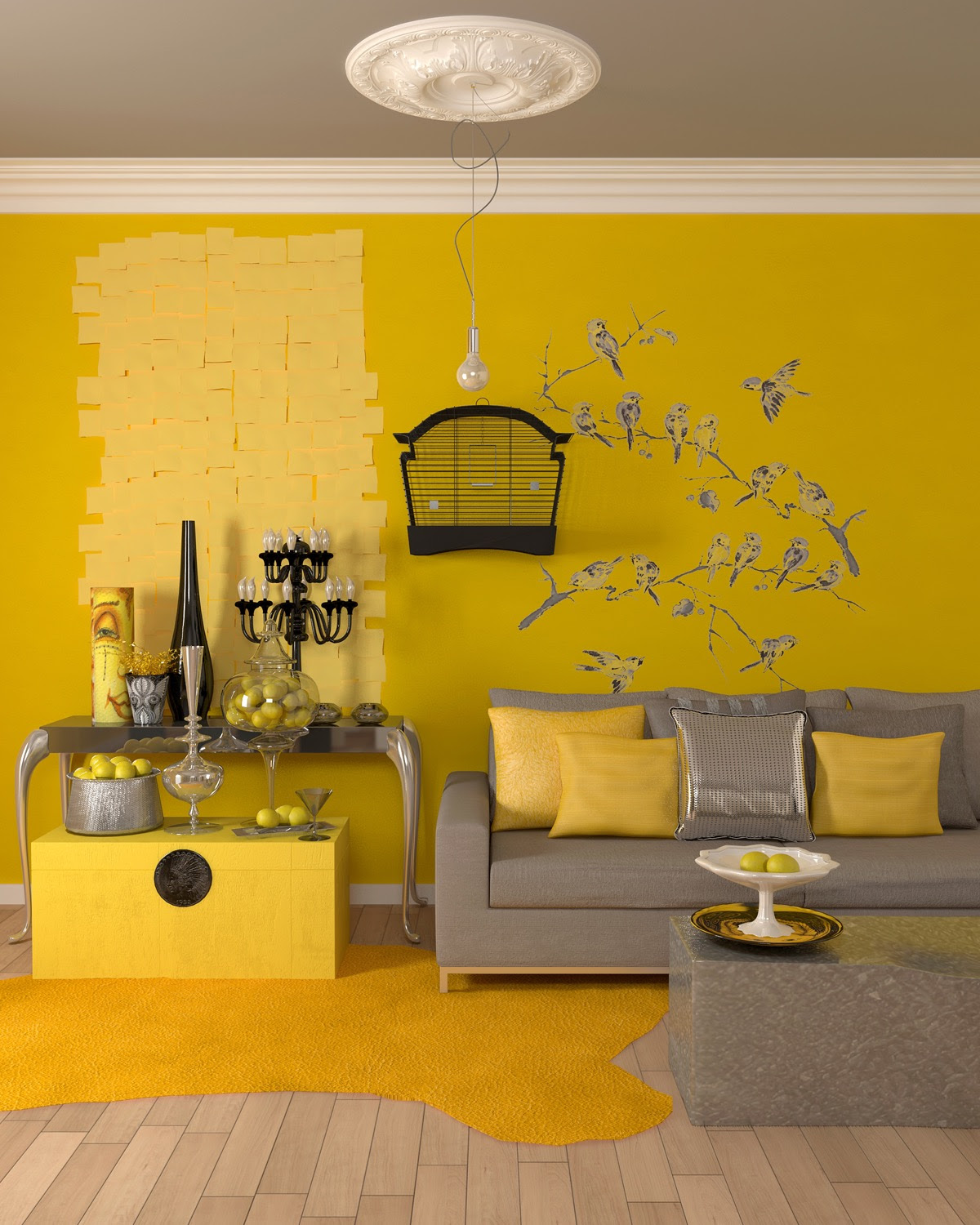 25 Gorgeous Yellow Accent Living Rooms