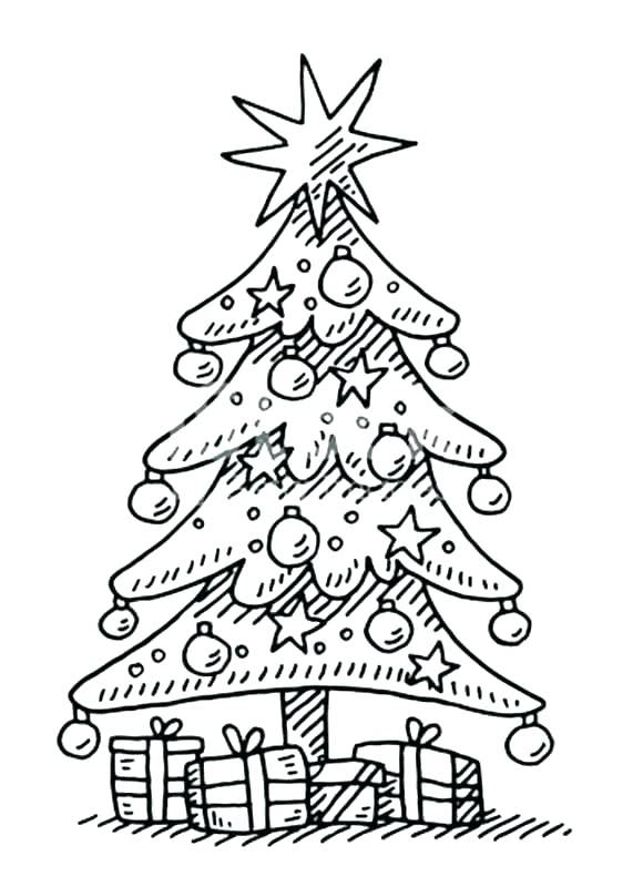 Blank Christmas Tree Coloring Page at GetColorings.com ...