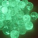 光を吸収して、暗闇で発光する蓄光ビー玉。蓄光ビー玉10個セット(15mm)