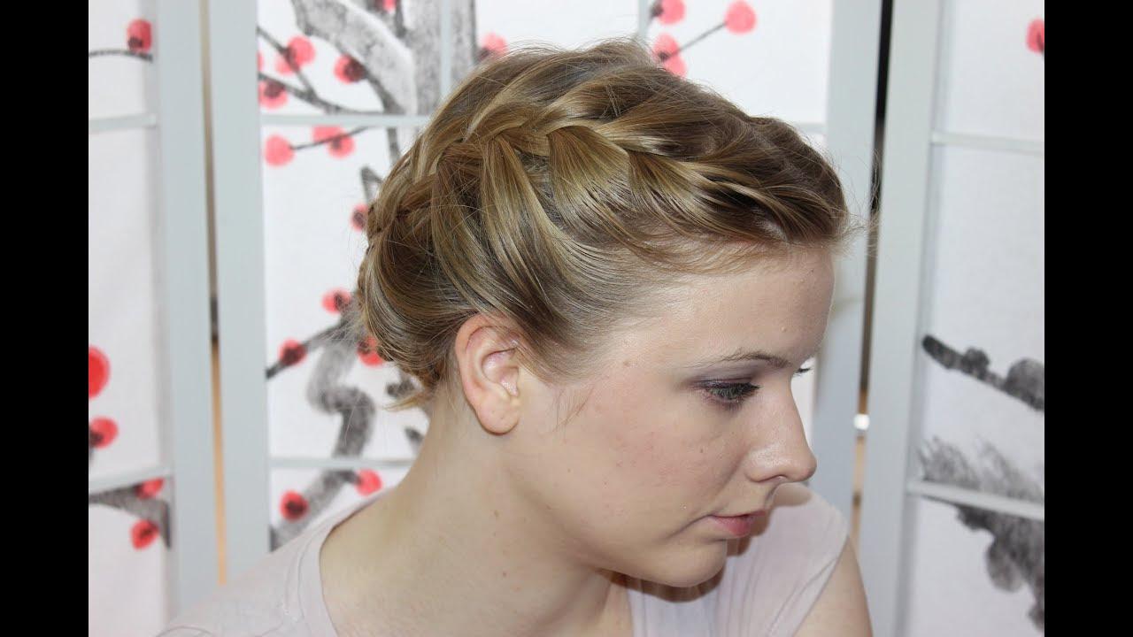Flechtfrisuren Für Kurze Haare Zum Selber Machen Hochsteck Und