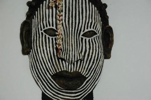 Amerindian mask, Goias Velho, Brazil, Images by Sunil Deepak