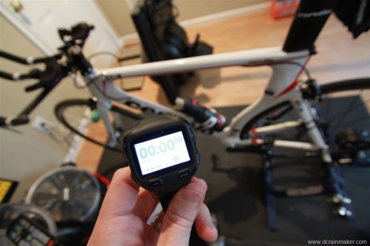 Garmin FR910XT with indoor cycling trainer