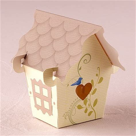 Sweet Bird House Favour Box   Weddingstar
