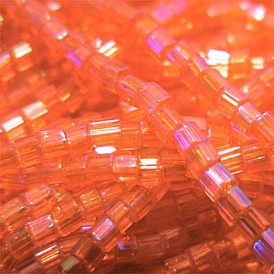 66035381 Czech Seedbeads - 10/0 2-cut Seedbeads - Transparent Orange AB (hank)