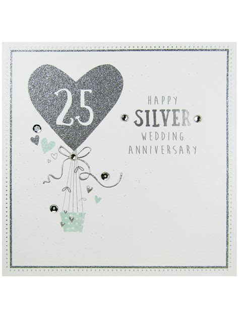 Carte Blanche Silver Anniversary Greeting Card at John