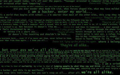 Hacker manivesto fondo de pantalla fondos de pantalla gratis