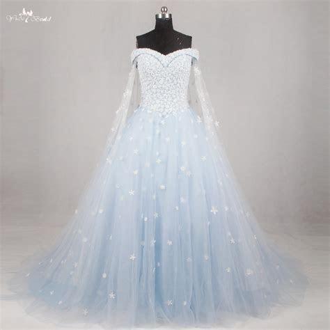RSW1134 Light Blue Wedding Gown Wedding Dress 2016 Off The