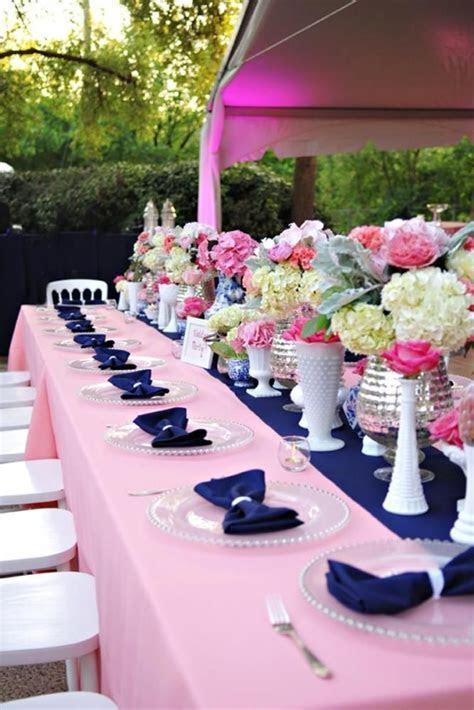 Navy and Pink Wedding Decor      #weddingdecor #