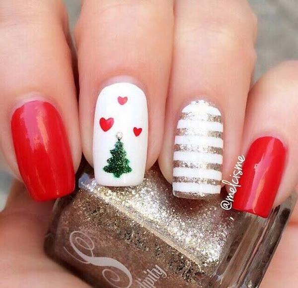 Cute Christmas Nails.Cute And Easy Christmas Nail Art