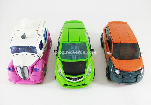 Transformers Mudflap RotF Deluxe vs Skids vs Ice Cream Truck - modo alterno