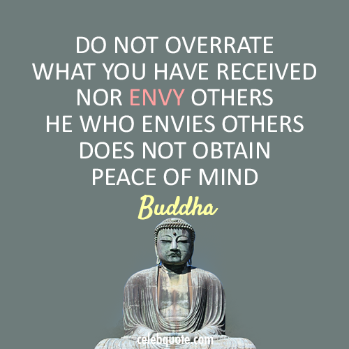 Buddha Quote About Peace Jealous Envy Cq