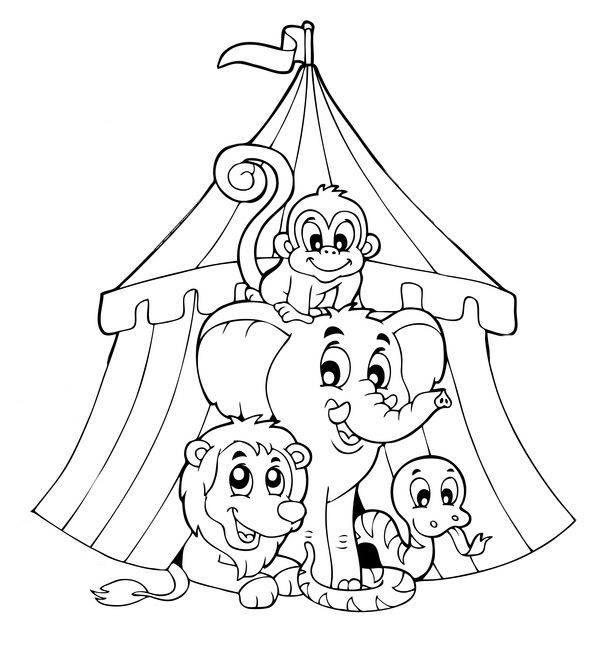 zirkus ausmalbilder ausmalbilder seiltänzer seite circus