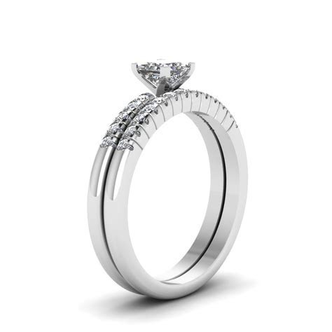 Princess Cut Cubic Zirconia Exclusive Wedding Ring Set 14k