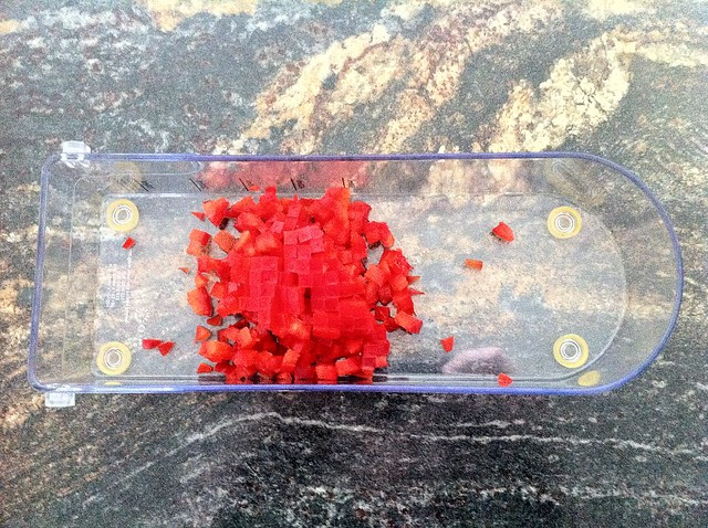 Finely Diced Red Bell Pepper