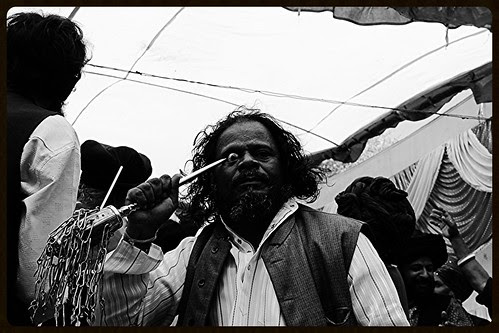 Hardcore Eyeball Piercing - Masoom Ali Baba At Makanpur by firoze shakir photographerno1