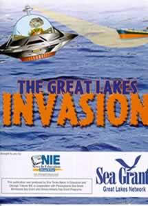 retro spaceship invader graphic from SeaGrant IL-IN
