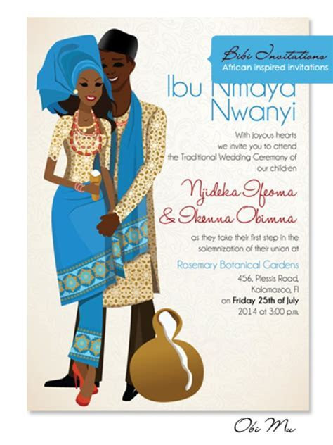 Unique African Wedding Invitations by Bibi Wedding Invitations