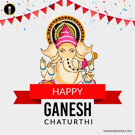 Happy Ganesh Chaturthi Social Media Banner with nice