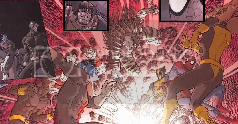 X-men and Spiderman