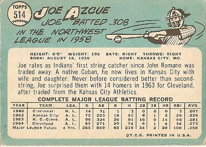 Joe Azcue (back) by you.