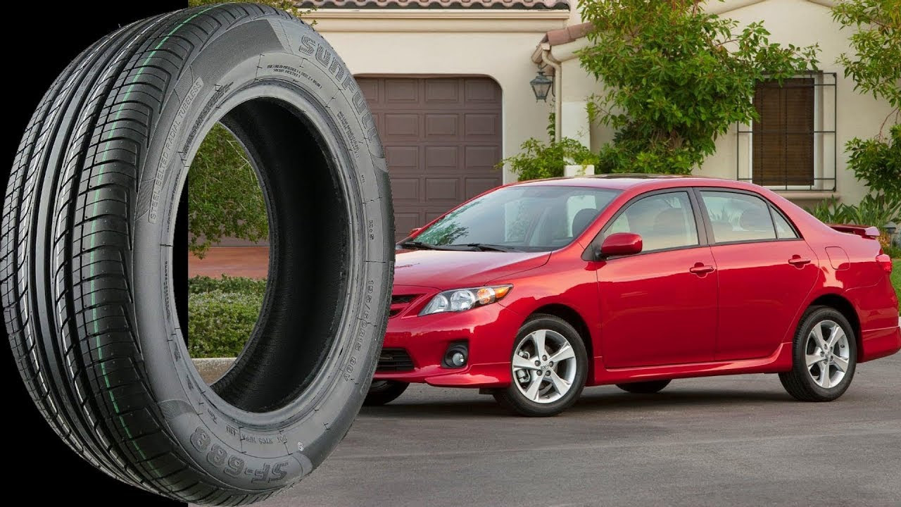 Stock Tire Size For All Toyota Corolla 1991 2017 Youtube