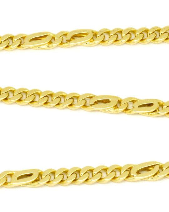 Originalfoto FLACHPANZER PFAUENAUGE TIGERAUGE GOLDKETTE MASSIV GOLD