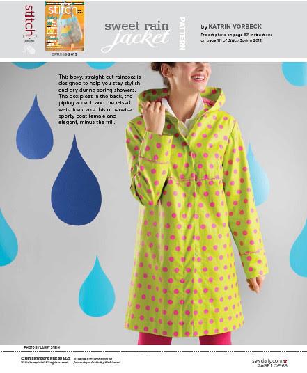 Sweet rain coat