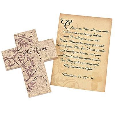 Download Lenten Cross and Prayer Card Resin