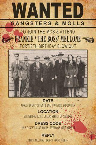 Mafia Birthday Invitation Template  The Mob   Tristan's