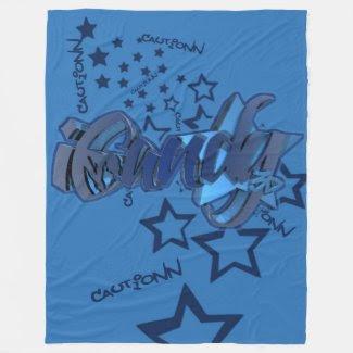 Blox3dnyc.com UrbanStar design for ICandy Cautionn Fleece Blanket