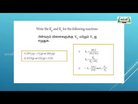 NEET  JEE Chemistry Physical & Chemical Equilibrium Kalvi TV