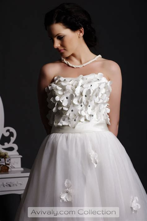 Petal   Sweetheart Floral Bodice Tulle Gown   Avivaly